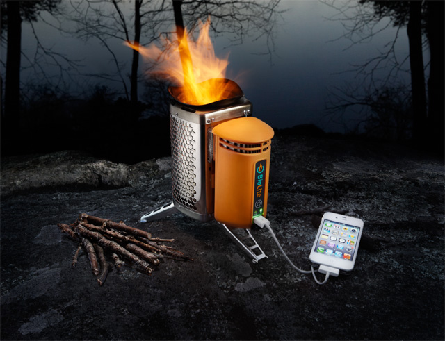 The BioLite Camp Stove charges your cell phone.